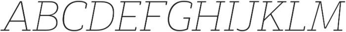 Decour Soft Thin Italic otf (100) Font UPPERCASE