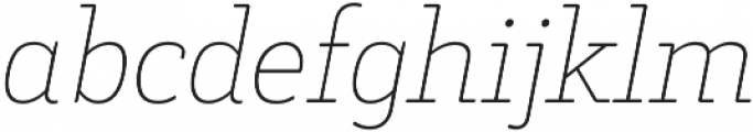 Decour Soft Thin Italic otf (100) Font LOWERCASE