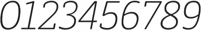 Decour Soft Ultralight Italic otf (300) Font OTHER CHARS