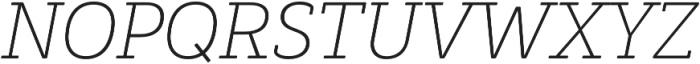 Decour Soft Ultralight Italic otf (300) Font UPPERCASE