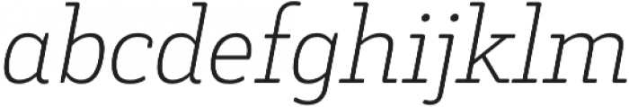Decour Soft Ultralight Italic otf (300) Font LOWERCASE