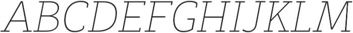 Decour Thin Italic otf (100) Font UPPERCASE