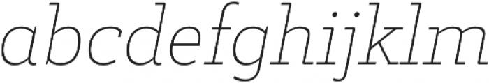Decour Thin Italic otf (100) Font LOWERCASE