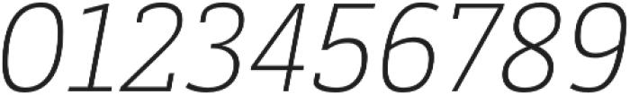Decour Ultralight Italic otf (300) Font OTHER CHARS