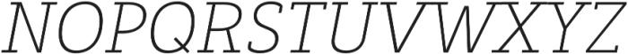 Decour Ultralight Italic otf (300) Font UPPERCASE