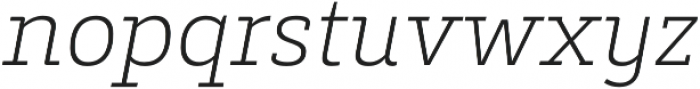 Decour Ultralight Italic otf (300) Font LOWERCASE