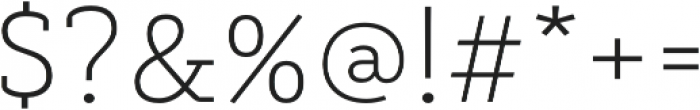 Decour Ultralight otf (300) Font OTHER CHARS