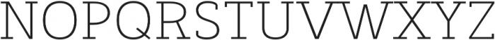 Decour Ultralight otf (300) Font UPPERCASE