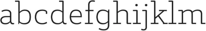 Decour Ultralight otf (300) Font LOWERCASE