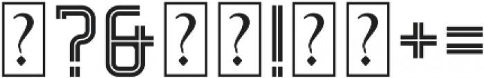 Decurion Inline otf (400) Font OTHER CHARS