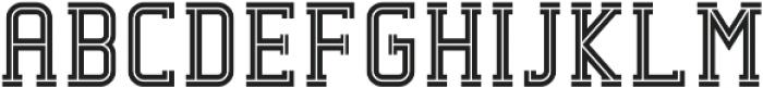 Decurion Inline otf (400) Font LOWERCASE