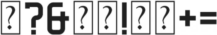 Decurion Regular otf (400) Font OTHER CHARS