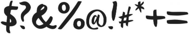 Deft Brush otf (400) Font OTHER CHARS