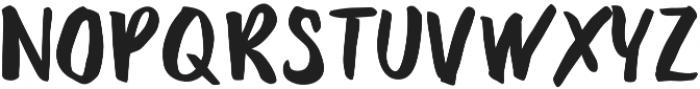 Deft Brush otf (400) Font UPPERCASE