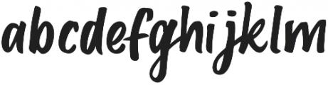 Deft Brush otf (400) Font LOWERCASE