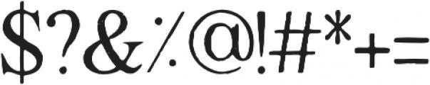 Degalasi Serif Marker otf (400) Font OTHER CHARS