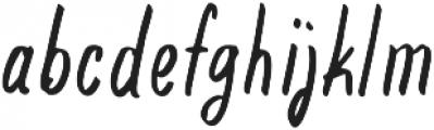Deisy Regular otf (400) Font LOWERCASE