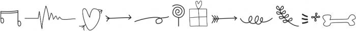 Delaney Doodles Regular otf (400) Font LOWERCASE