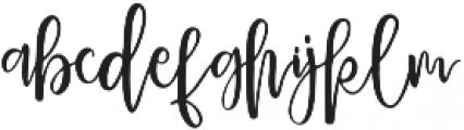 Delaney otf (400) Font LOWERCASE