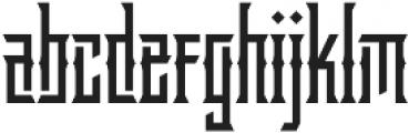 Delaroca Regular otf (400) Font LOWERCASE