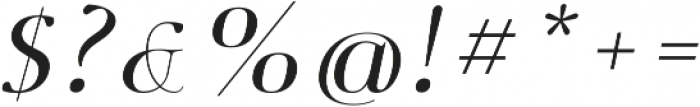 Deleplace Italic otf (400) Font OTHER CHARS