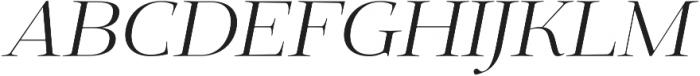 Deleplace Italic otf (400) Font UPPERCASE