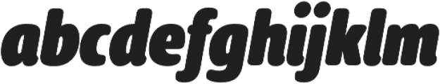 Delfino Black Italic otf (900) Font LOWERCASE
