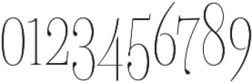 Delgado Extra-condensed Thin otf (100) Font OTHER CHARS
