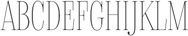 Delgado Extra-condensed Thin otf (100) Font UPPERCASE