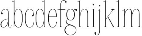 Delgado Extra-condensed Thin otf (100) Font LOWERCASE