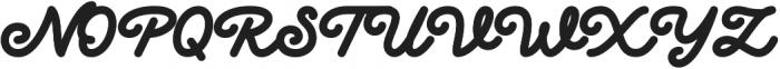 Delichia Script otf (400) Font UPPERCASE