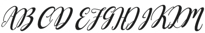 Dellayla Script otf (400) Font UPPERCASE