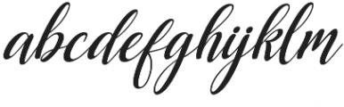Dellayla Script otf (400) Font LOWERCASE