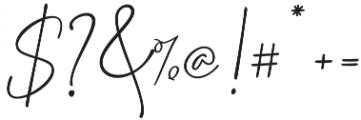 Delliatin Trending Signatures Regular otf (400) Font OTHER CHARS