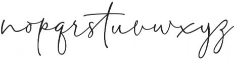 Delliatin Trending Signatures Regular otf (400) Font LOWERCASE
