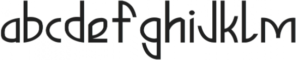 Dellis ttf (400) Font LOWERCASE
