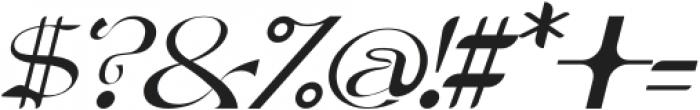Dellucion-Slant otf (400) Font OTHER CHARS