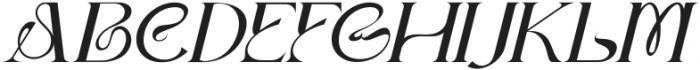 Dellucion-Slant otf (400) Font UPPERCASE