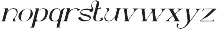 Dellucion-Slant otf (400) Font LOWERCASE
