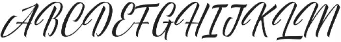 Delphin Spring otf (400) Font UPPERCASE