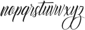 Delphin Spring otf (400) Font LOWERCASE