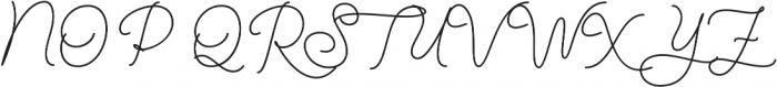 Denaro Script Bold otf (700) Font UPPERCASE