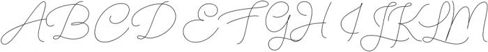 Denaro Script Thin ttf (100) Font UPPERCASE