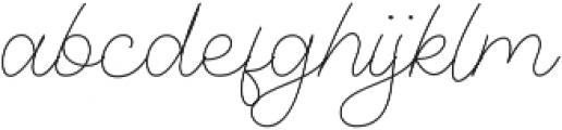 Denaro Script Thin ttf (100) Font LOWERCASE