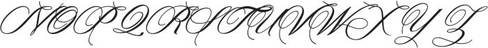 Denita Script otf (400) Font UPPERCASE