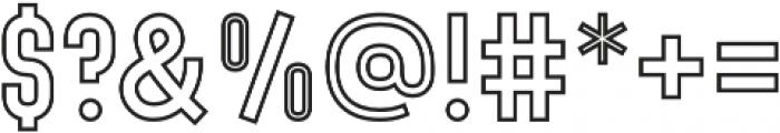 Denso Bold Outline otf (700) Font OTHER CHARS