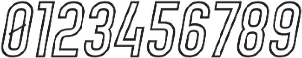 Denso Light Outline Italic otf (300) Font OTHER CHARS