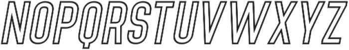 Denso Light Outline Italic otf (300) Font UPPERCASE
