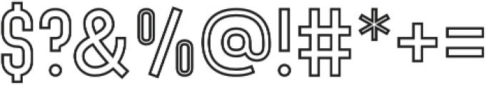 Denso Light Outline otf (300) Font OTHER CHARS