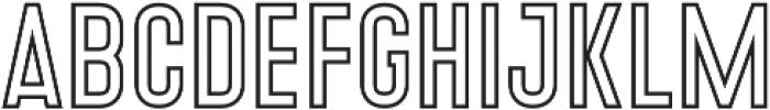 Denso Light Outline otf (300) Font LOWERCASE